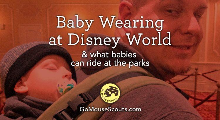 Baby Wearing at Disney World